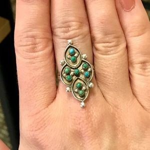 Jewelry - Vintage Turquoise Native American Sterling Ring